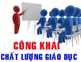 CAM KẾT CÔNG KHAI CHẤT LƯỢNG GIÁO DỤC 2017-2018